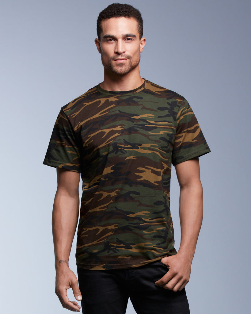 Adult Heavyweigt Camouflage T Shirt - AV939 Wizard Printers