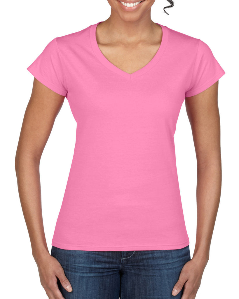 GD78 - Gildan SoftStyle Ladies V Neck T-Shirt - Wizard Printers - 2