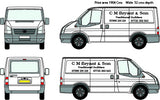 Ford Van Liver 2 Sides - C M Bryant Wizard Printers