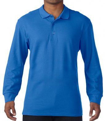 Gildan GD44 - Long Sleeve Premium Polo Shirt Wizard Printers