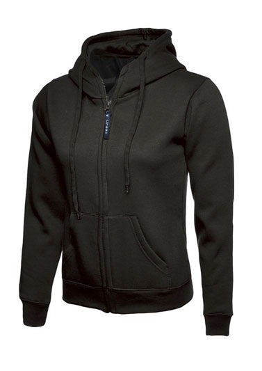 Uneek UC505 - Ladies Full Zip Hooded Sweatshirt Wizard Printers