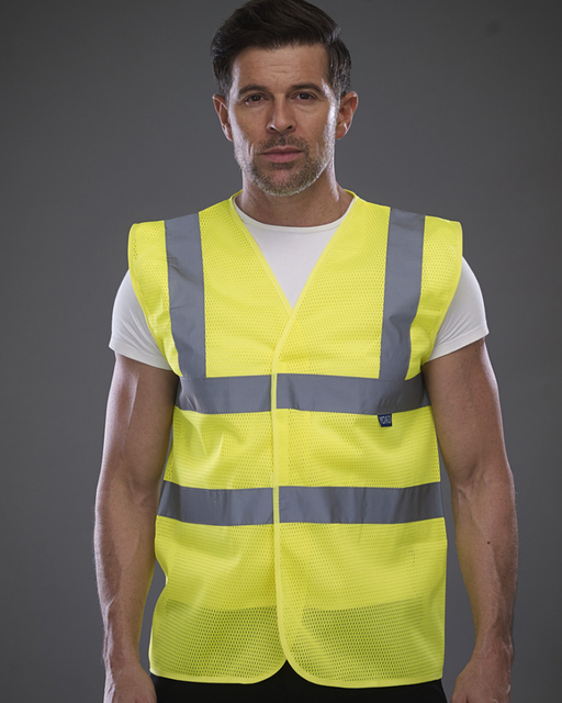 High Visibility Top Cool Open Mesh Waistcoat - YK104  (HVP100) Wizard Printers