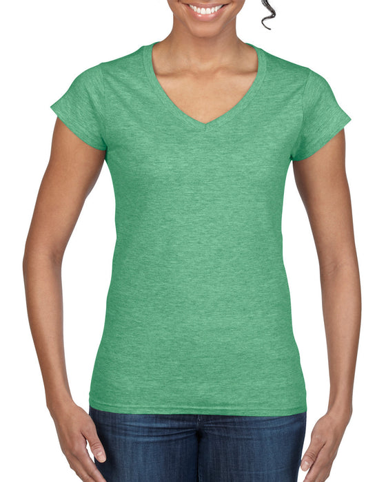 Gildan GD78 - Ladies SoftStyle V Neck T Shirt Wizard Printers