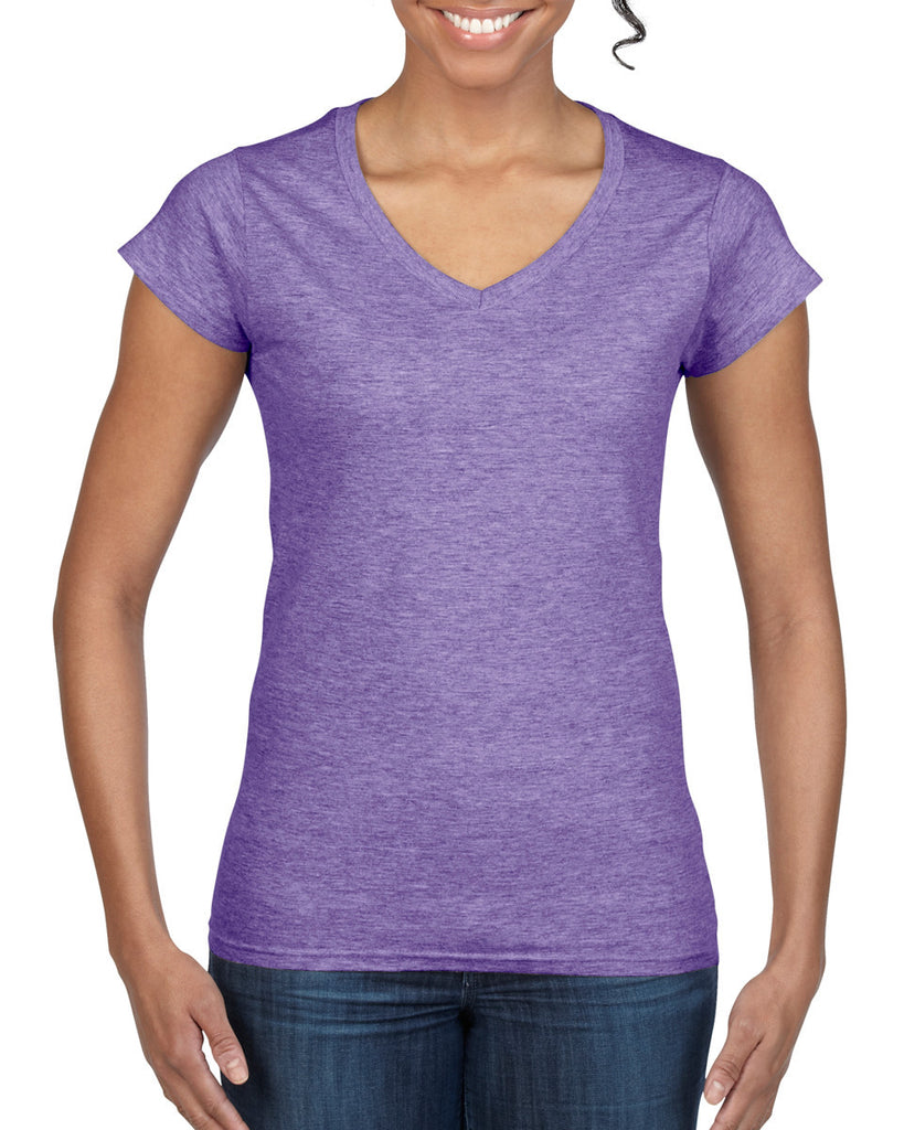GD78 - Gildan SoftStyle Ladies V Neck T-Shirt - Wizard Printers - 6