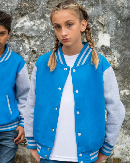 Just Hoods JH043B - Kids Varsity Jacket Wizard Printers