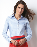 Ladies Long Sleeve Corporate Oxford Shirt - K702