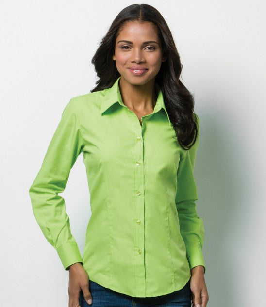 Kustom Kit K729 - Ladies Long Sleeve Workforce Shirt Wizard Printers