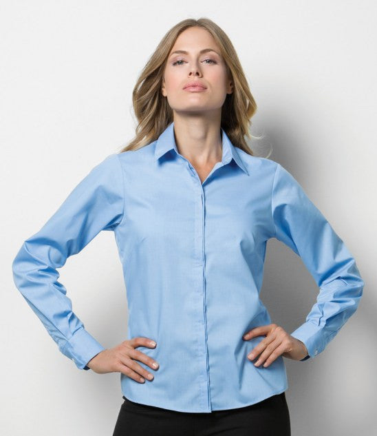 Kustom Kit K747 - Ladies Long Sleeve Contemporary Business Shirt Wizard Printers