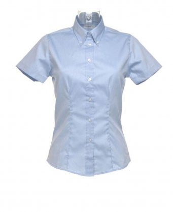Kustom Kit K701 - Ladies Short Sleeve Corporate Oxford Shirt Wizard Printers