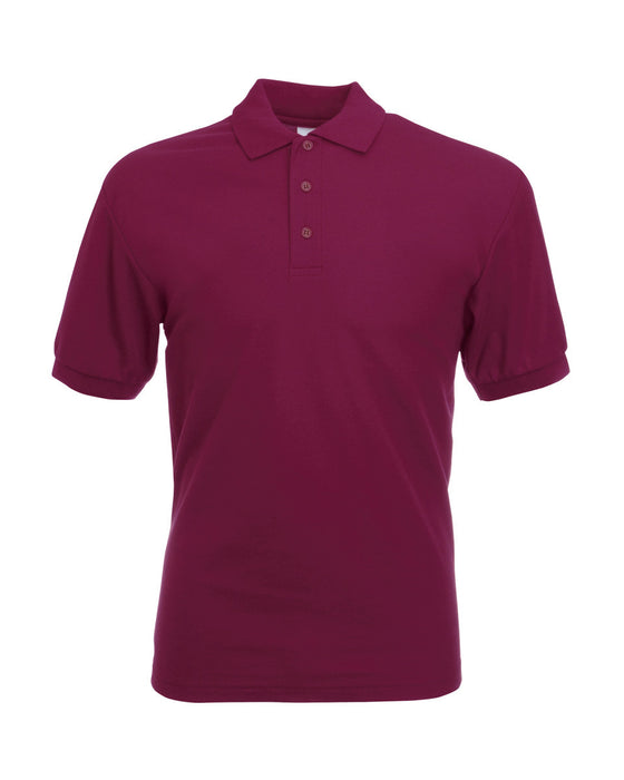 SS11 - Fruit of the Loom Poly Cotton Pique Polo Shirt | Burgundy