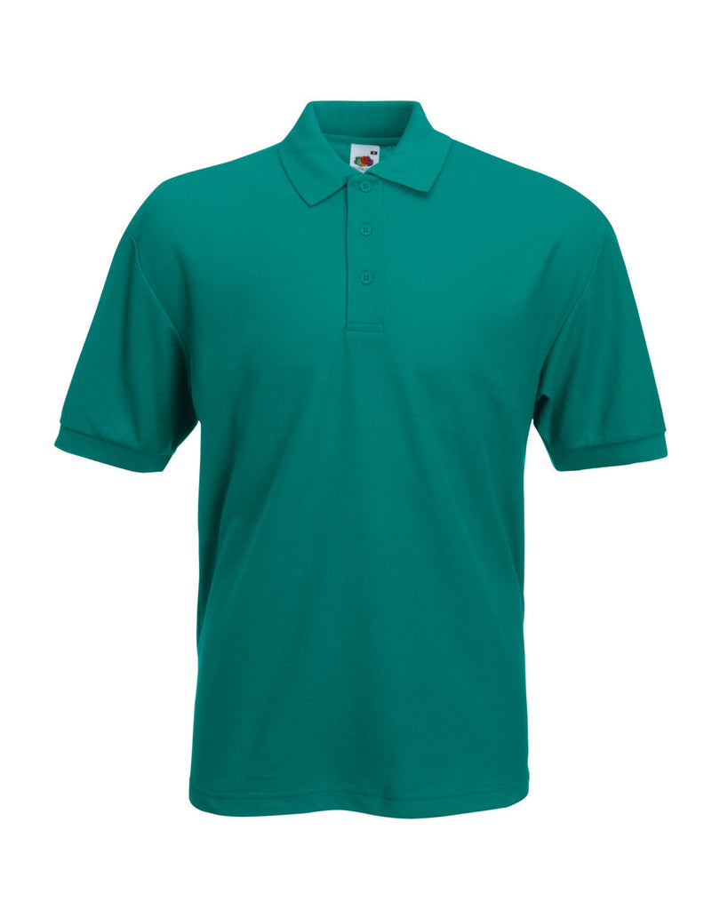 SS11 - Fruit of the Loom Poly Cotton Pique Polo Shirt - Jade