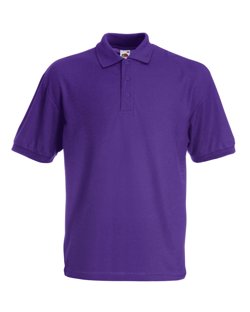 SS11 - Fruit of the Loom Poly Cotton Pique Polo Shirt | Purple