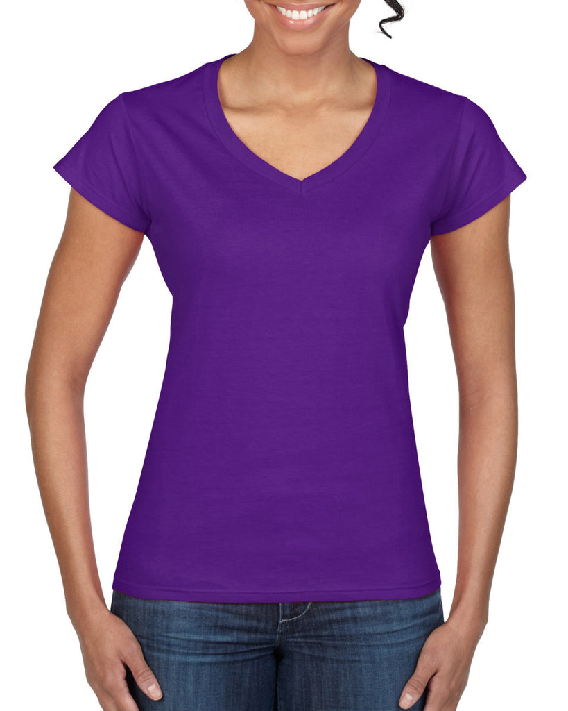 GD78 - Gildan SoftStyle Ladies V Neck T-Shirt - Wizard Printers - 9