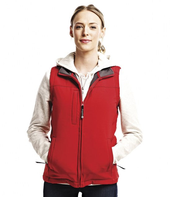 Regatta RG155 - Ladies Flux Soft Shell Bodywarmer Wizard Printers