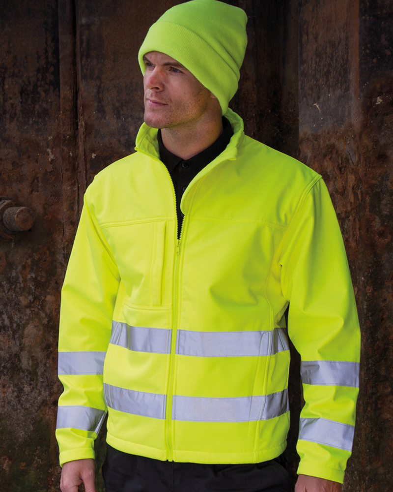 Result RS117 - Safe Guard High Visibility Soft Shell Jacket Wizard Printers