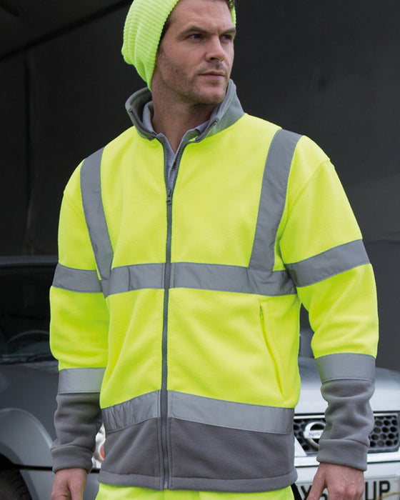 RS329 - Safe Guard High Visibility Micro Fleece Jacket