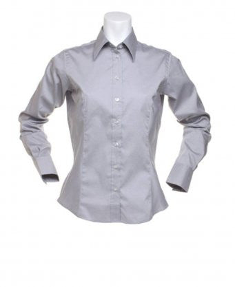 K702 - Kustom Kit Ladies Long Sleeve Corporate Oxford Shirt