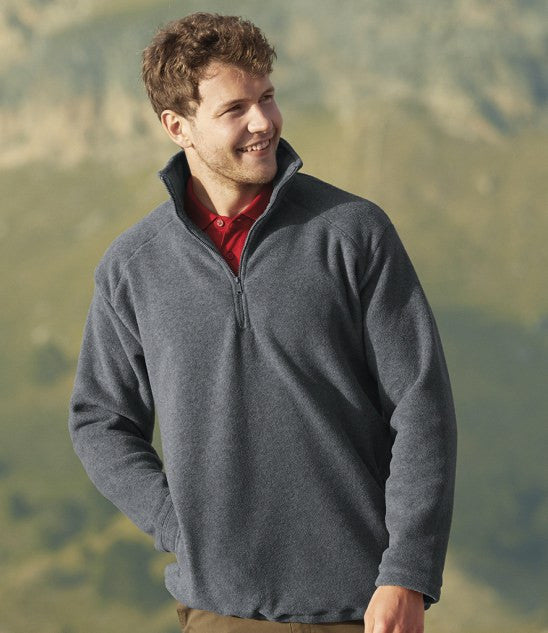 SS51 - Fruit of the Loom Zip Neck Outdoor Fleece Wizard Printers