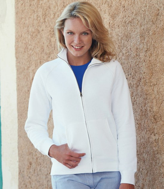 SS79 - Fruit of the Loom Premium Lady Fit Sweat Jacket Wizard Printers