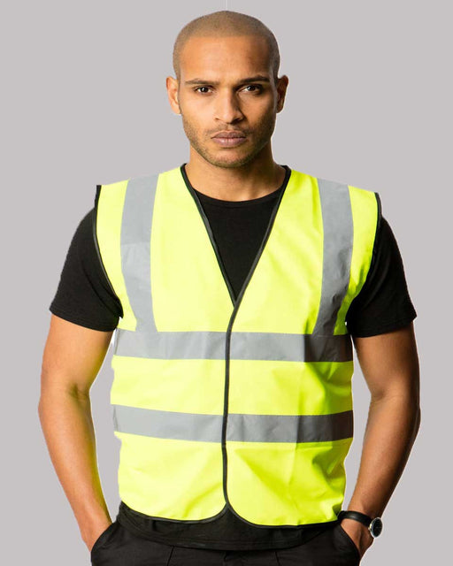 Uneek UC801 - High Visibility Safety Waist Coat Wizard Printers