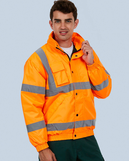 Uneek UC804 - High Visibility Bomber Jacket Wizard Printers