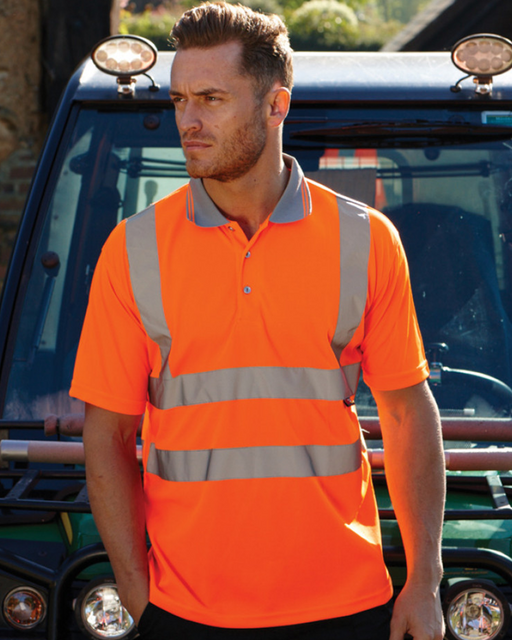 High Visibility Polo Shirt - WR002 Wizard Printers
