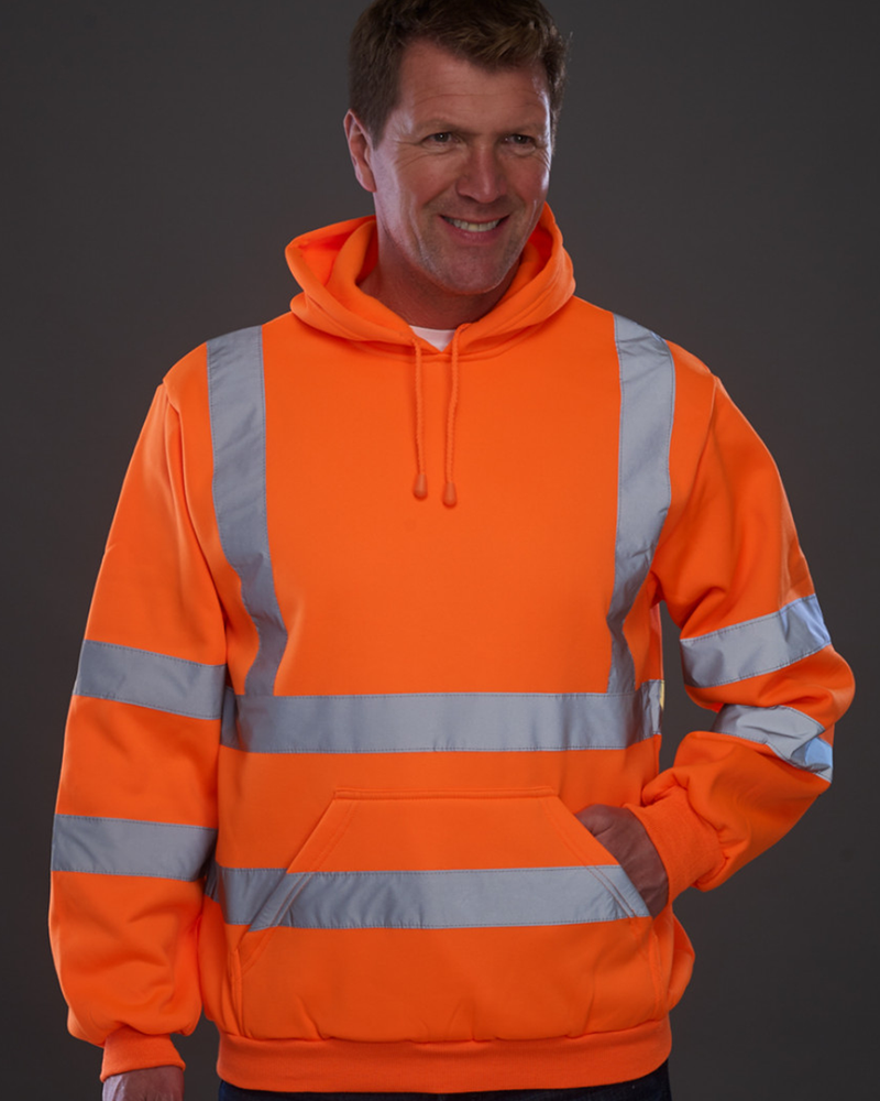 High Visibility Pull Over Hoodie - YK031 Wizard Printers