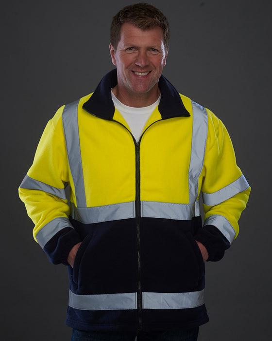 Yoko YK060 - Yoko High Visibility Heavyweight Fleece Jacket Wizard Printers