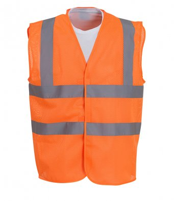 Yoko YK104 - High Visibility Top Cool Open Mesh Waistcoat Wizard Printers
