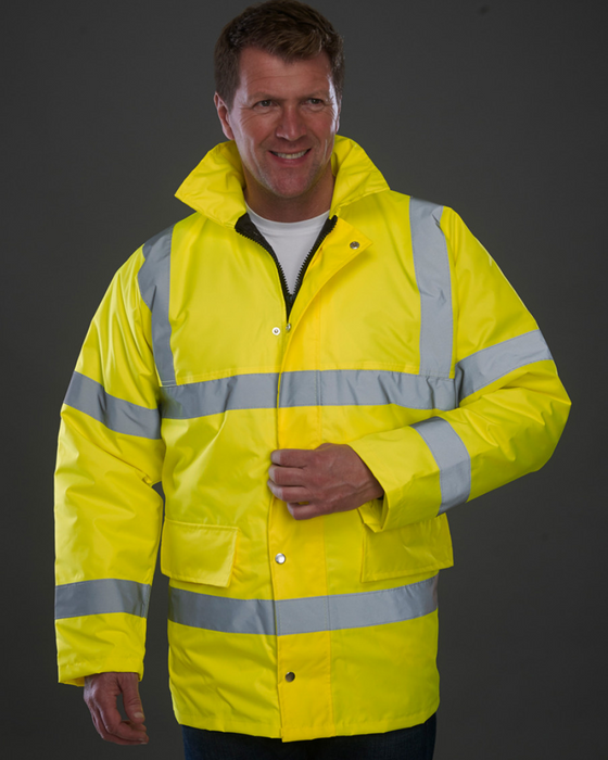 High Visibility Classic Motorway Jacket - YK202 - (HVP300) Wizard Printers
