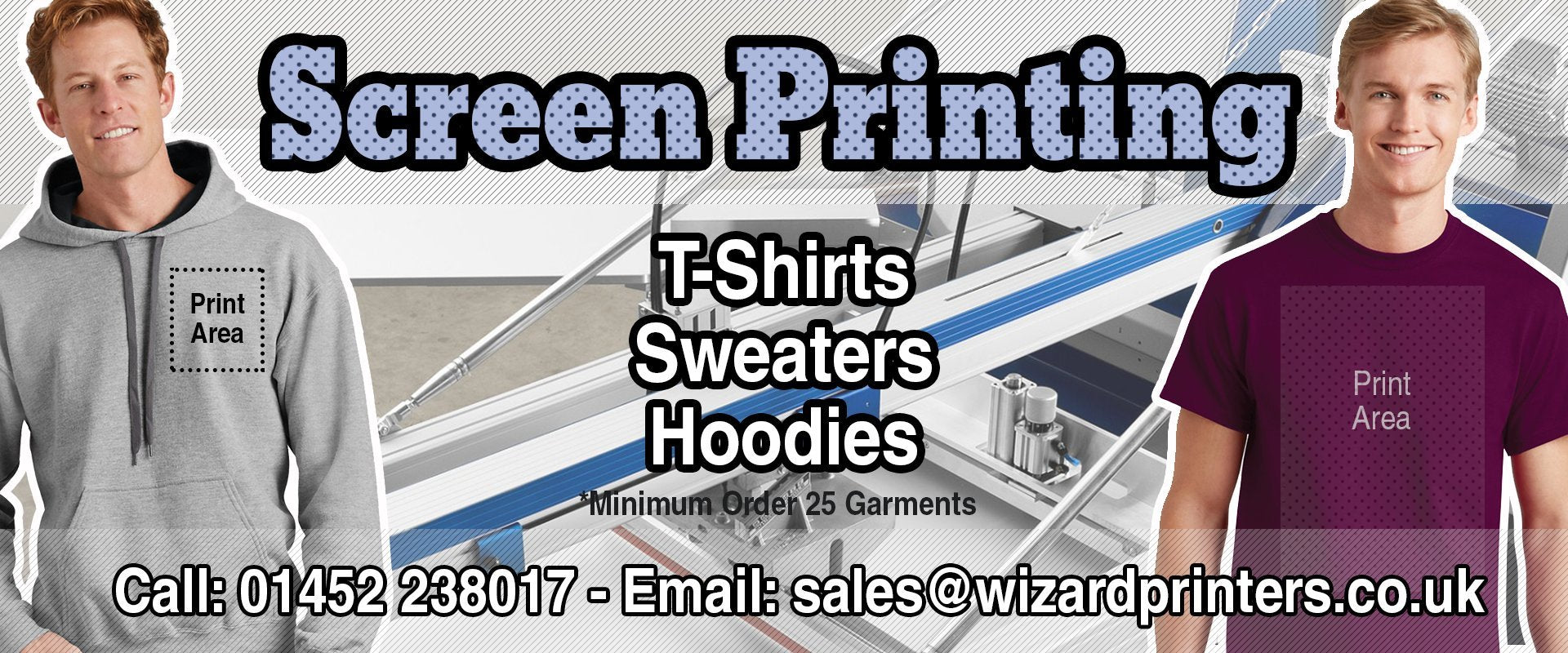 Wizard t shirt printing and embroidery gloucester 01452 for Wizard t shirt printing