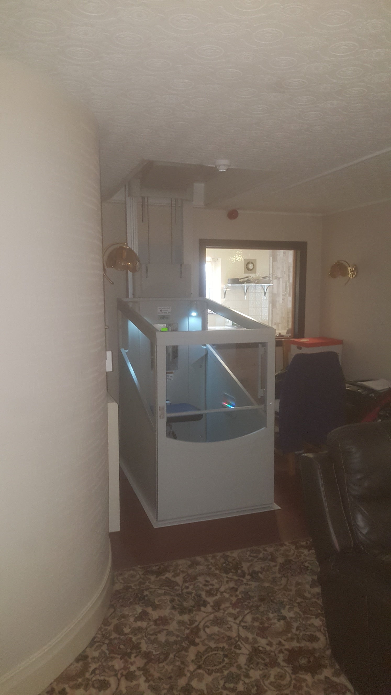 Pollock Through Floor Lift Install, Supported Living Accommodation, Blackburn.
