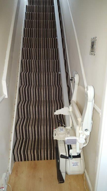 Install of New Handicare 1100 Friction Drive Stairlift