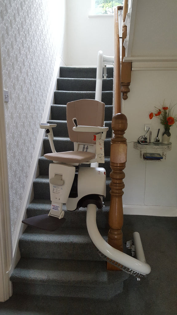 Recent Install Of Flow 2A Curved Stairlift in Ashton-In-Makerfield