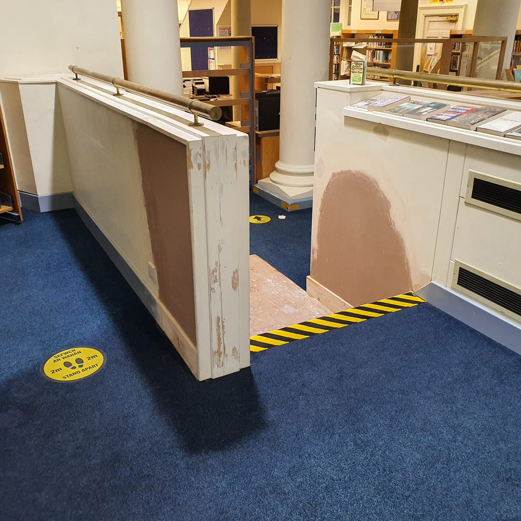 Install of Platform Lift Into Public Welsh Library