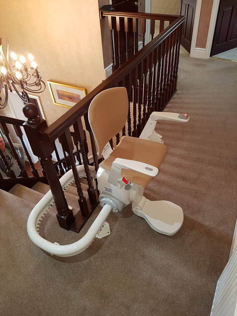 Recent Otolift One Air Curved Stairlift Installation in Lancaster