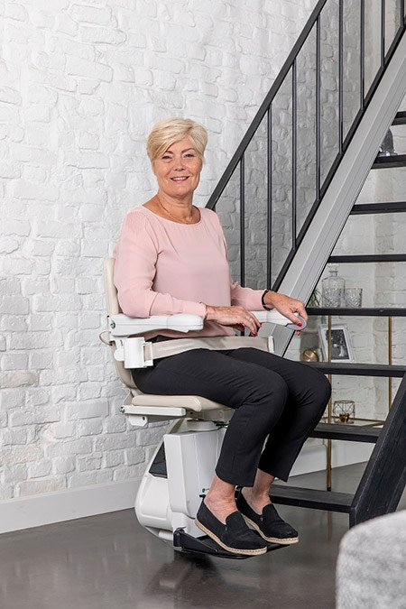 Aline New Handicare 1100 Friction Drive Straight Stairlift