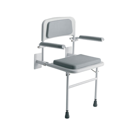 Roma Padded Wall Mounted Seat with Arms and Back 4239