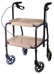 Aidapt Height Adjustable Kitchen Strolley Trolley With Brakes