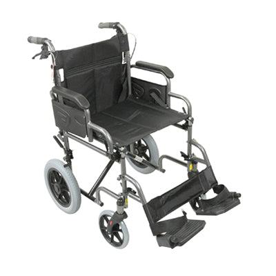 Aidapt Deluxe Attendant Propelled Steel Wheelchair VA169