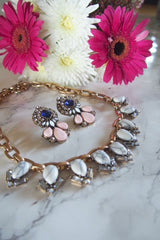 Jewel statement necklace & earrings
