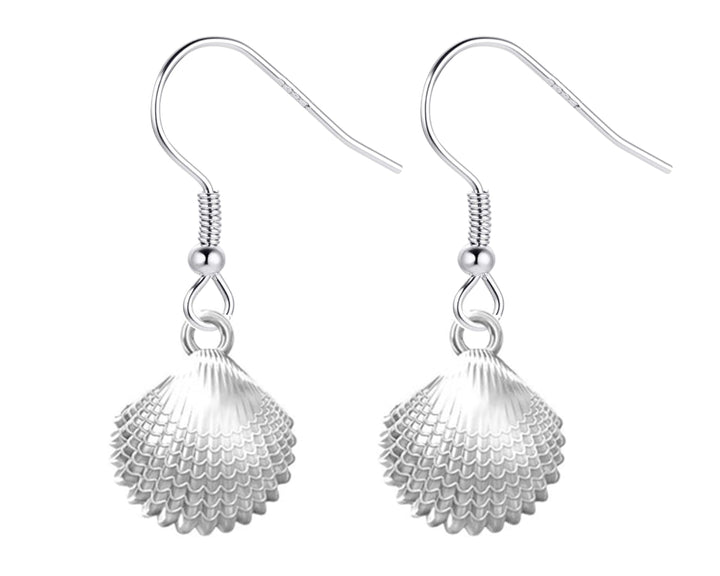 Scallop Shell Dangly Earrings, earrings, saltandco