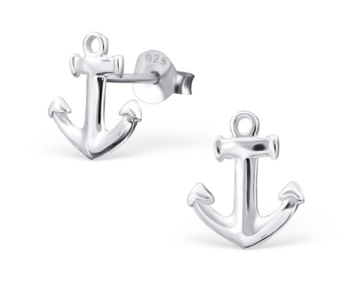 Anchor Studs, Earrings, saltandco