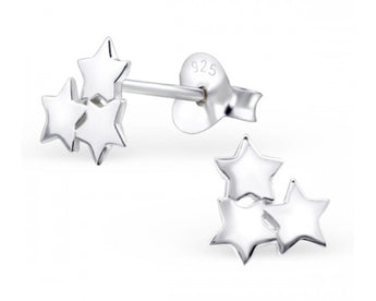 Cluster Star Studs, Earrings, saltandco