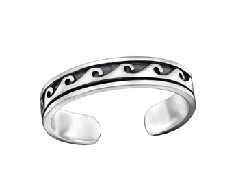 Salt & Co. Wave Toe Ring, Rings, saltandco