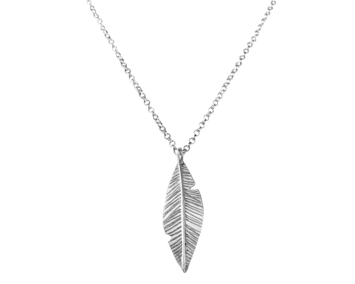 Feather Necklace, Necklaces, saltandco