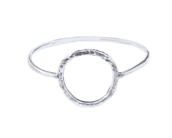 Hammered Circle Bangle, Bracelets, saltandco