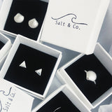 Medium Seashell Stud Earrings, Earrings, saltandco