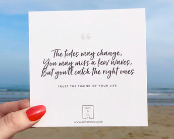 Waves: Trust the Timing of your Life Quote Card