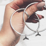 Whale Tail Bangle, Bracelets, saltandco